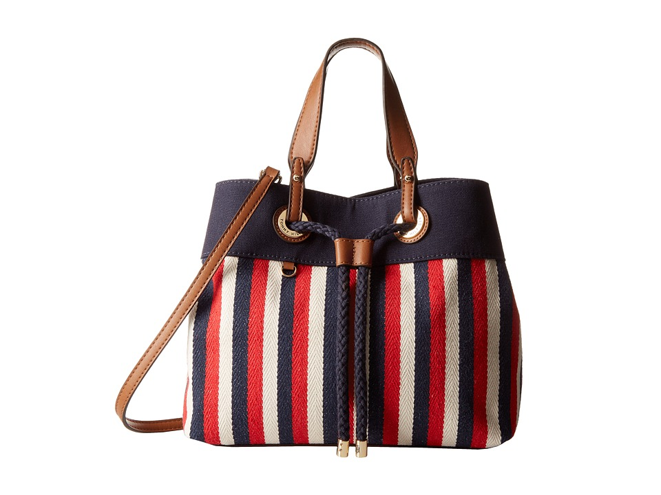 Tommy Hilfiger - Corinne - Canvas Shopper (Navy/Red) Handbags