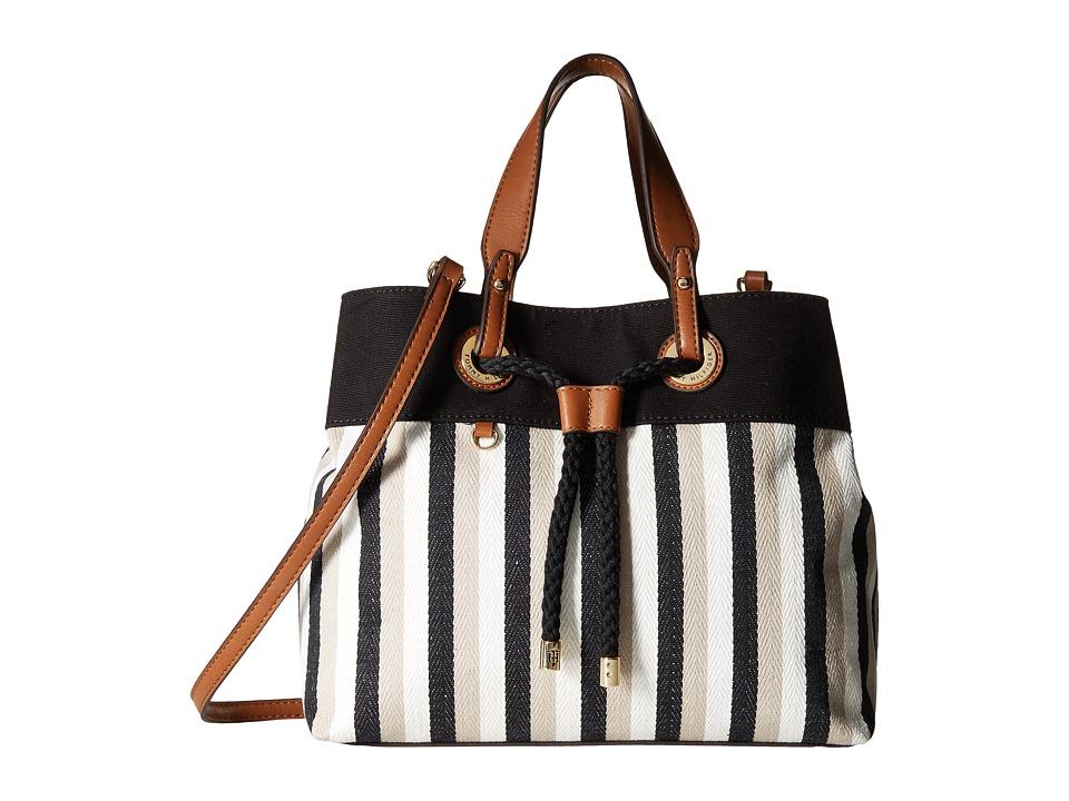 Tommy Hilfiger - Corinne - Canvas Shopper (Black/Khaki) Handbags
