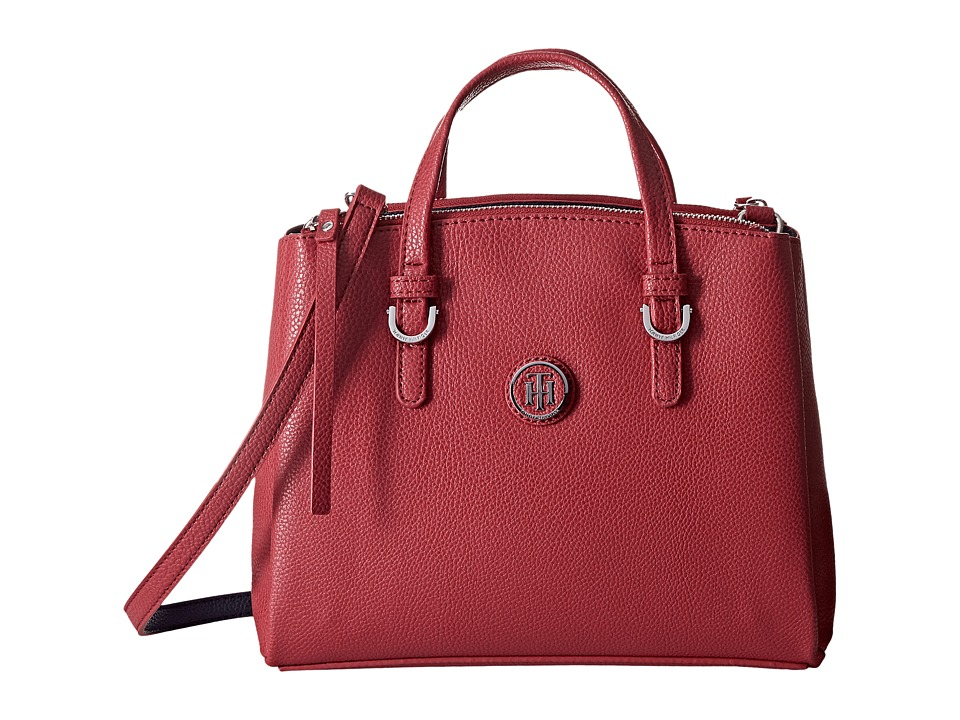 Tommy Hilfiger - Mara Convertible Shopper Satchel Bag (Red) Handbags