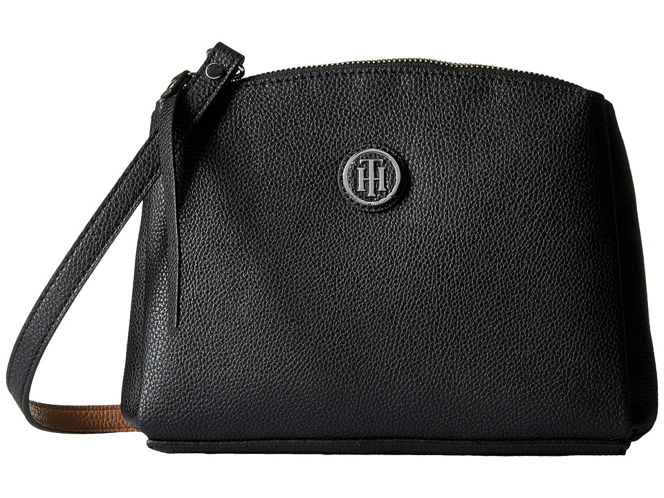 Tommy Hilfiger - Mara - East/West Crossbody (Black/Sand) Cross Body Handbags