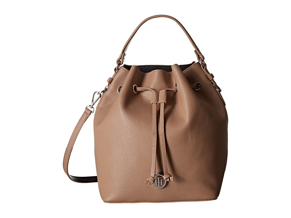 Tommy Hilfiger - Mara - Drawstring Bucket (Sand/Black) Handbags