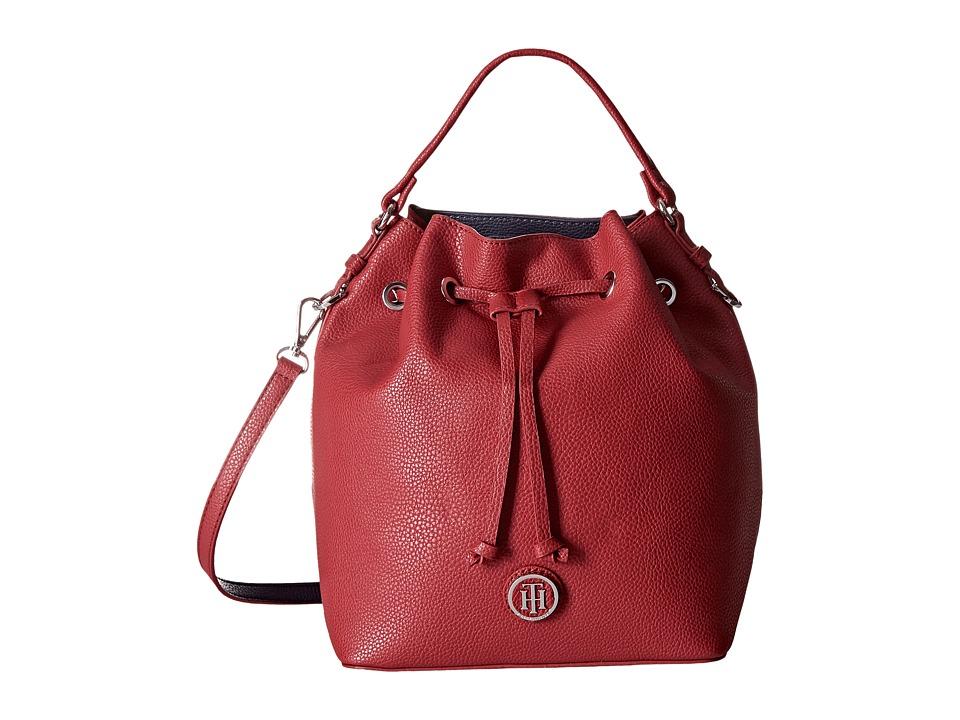 Tommy Hilfiger - Mara - Drawstring Bucket (Red) Handbags