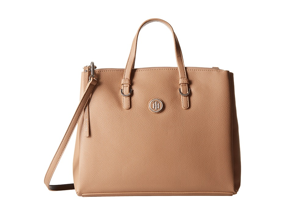 Tommy Hilfiger - Mara Shopper Satchel Bag (Sand/Black) Handbags