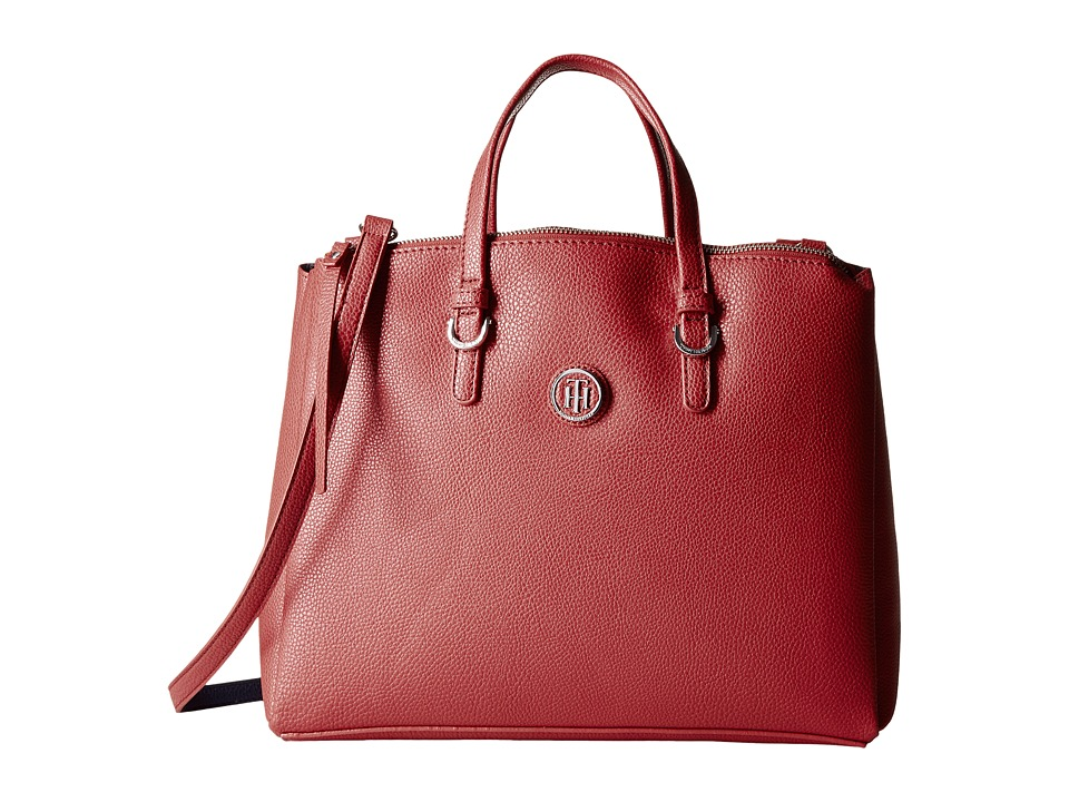Tommy Hilfiger - Mara Shopper Satchel Bag (Red) Handbags