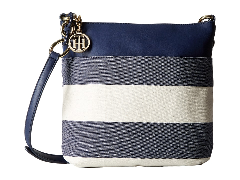 Tommy Hilfiger - TH Signature with Plastic Chain - Crossbody (Navy/Natural) Cross Body Handbags