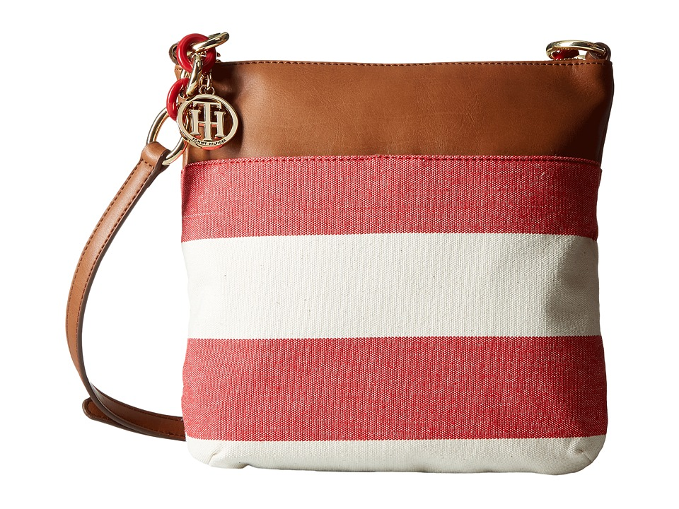 Tommy Hilfiger - TH Signature with Plastic Chain - Crossbody (Red/Natural) Cross Body Handbags