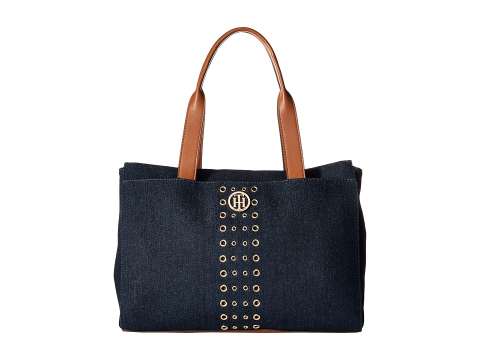 Tommy Hilfiger - TH Eyelet - Tote (Denim) Tote Handbags