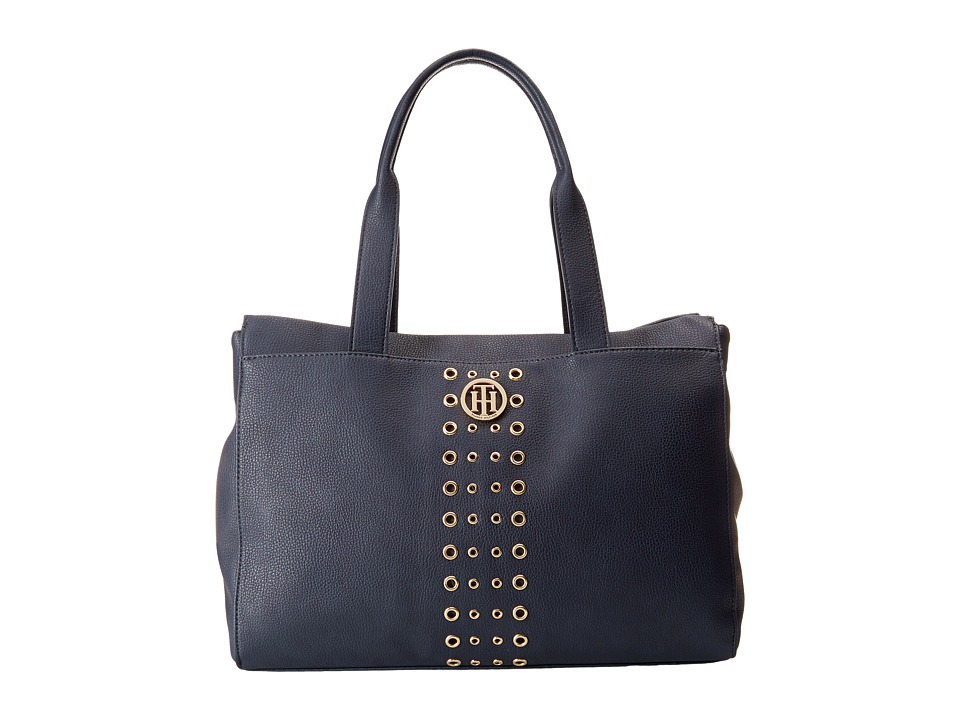 Tommy Hilfiger - TH Eyelet - Tote (Navy) Tote Handbags