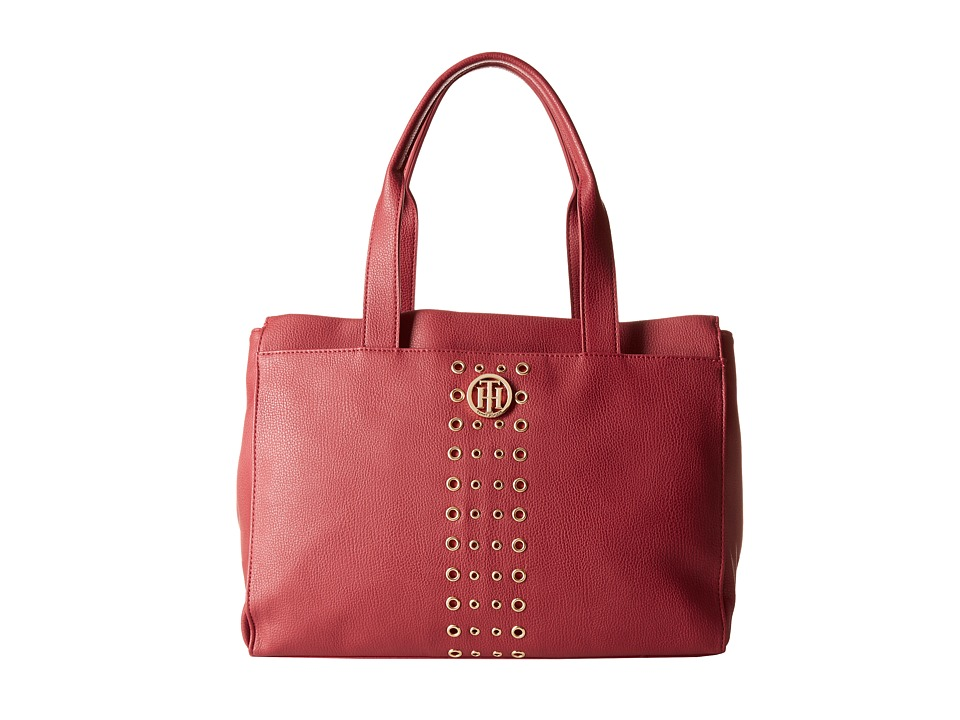 Tommy Hilfiger - TH Eyelet - Tote (Red) Tote Handbags