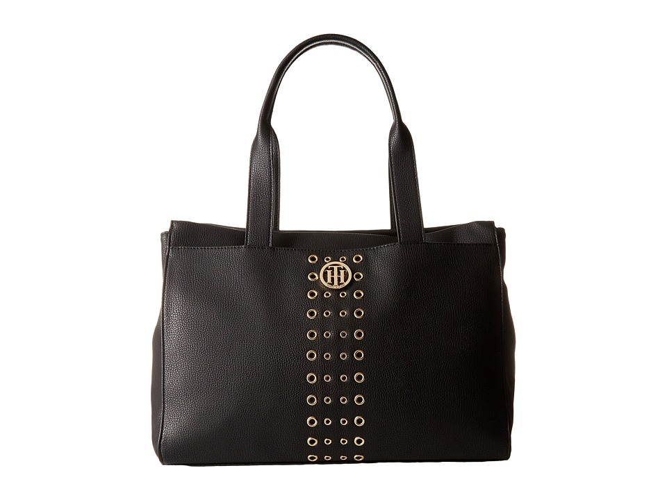 Tommy Hilfiger - TH Eyelet - Tote (Black) Tote Handbags