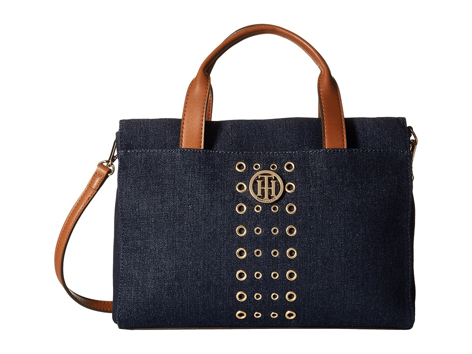 Tommy Hilfiger - TH Eyelet - Shopper (Denim) Handbags