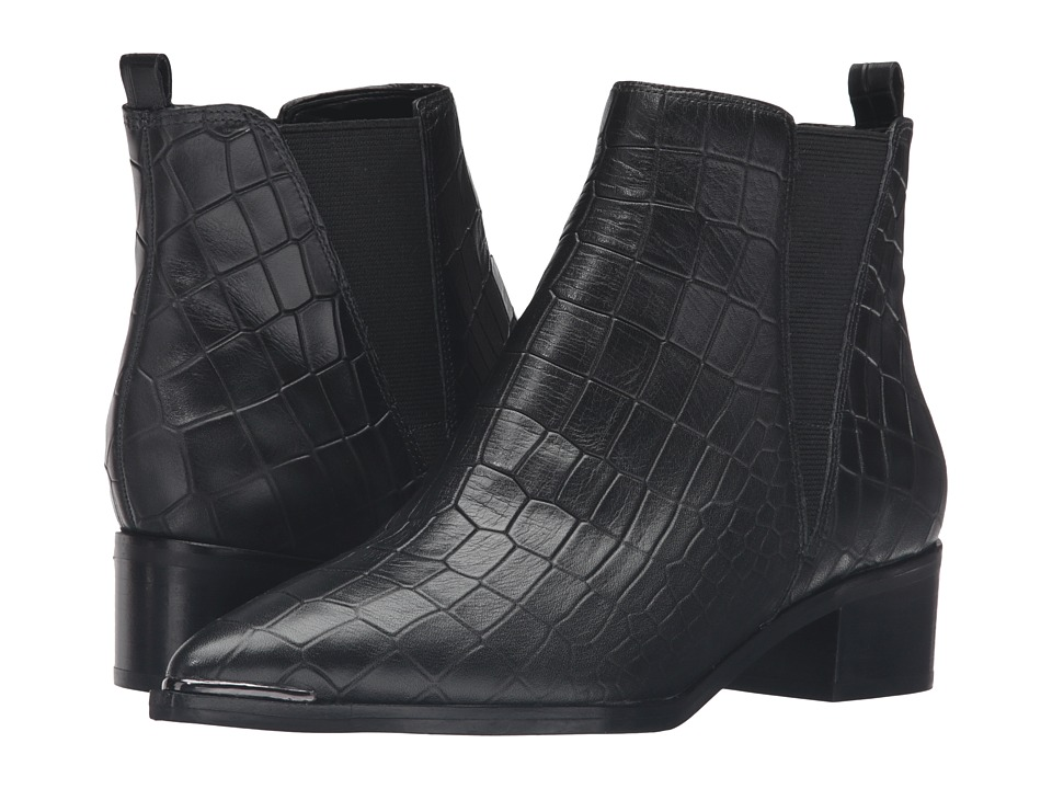 Marc Fisher LTD - Yale (Black Croc) Women's Dress Pull-on Boots