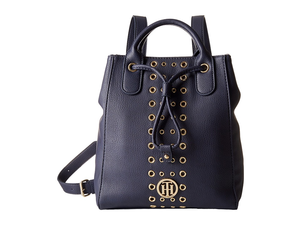 Tommy Hilfiger - TH Eyelet - Backpack (Navy) Backpack Bags