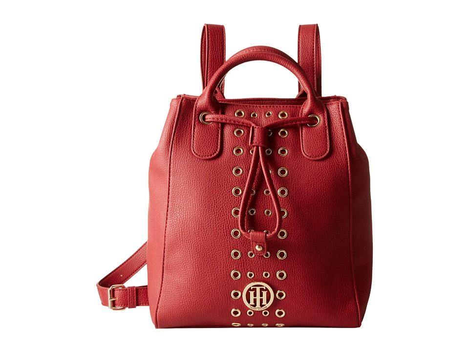 Tommy Hilfiger - TH Eyelet - Backpack (Red) Backpack Bags