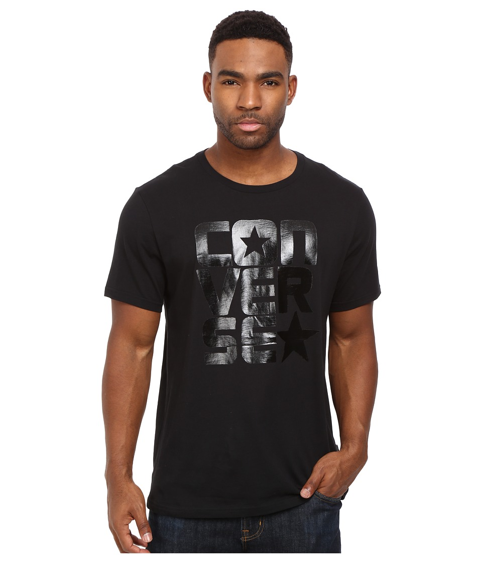 Converse - Black on Black Block Tee (Black) Men's T Shirt