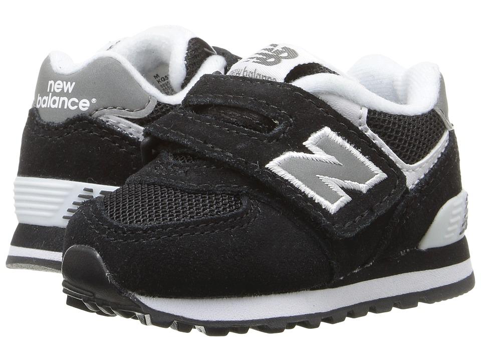 New Balance Kids KG574 (Infant/Toddler) (Black) Kid