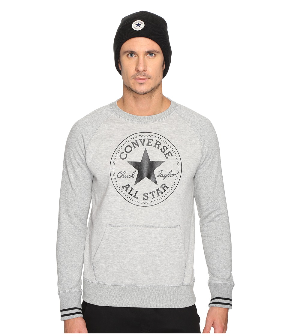 Converse - Core Tipped Rib Crew (Vintage Grey Heather) Men's Clothing