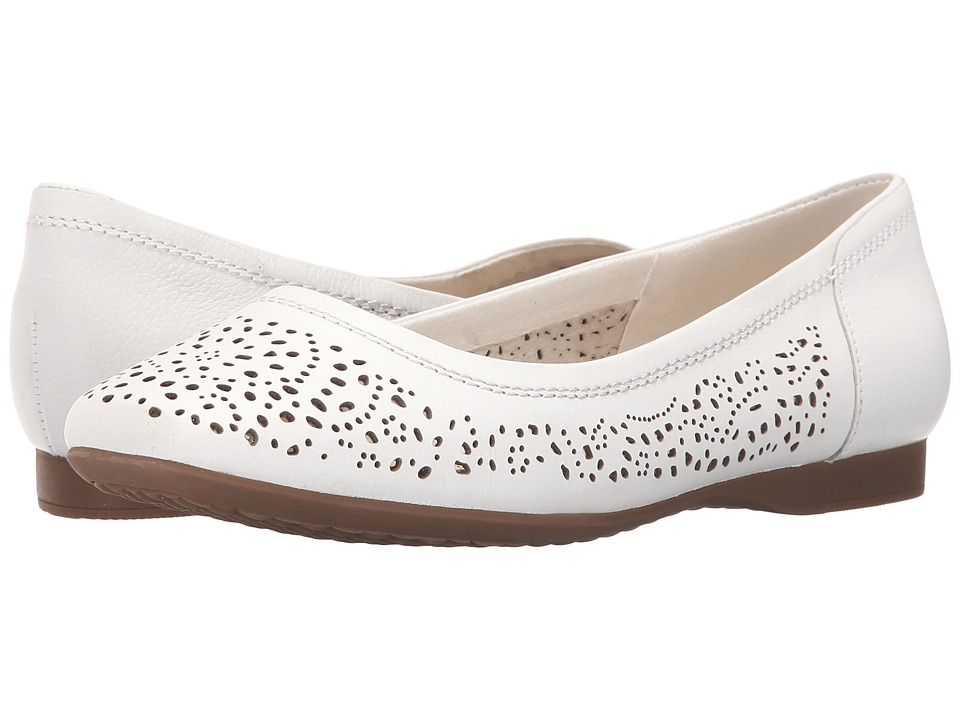 Hush Puppies Charee Callies (White Perf) Women