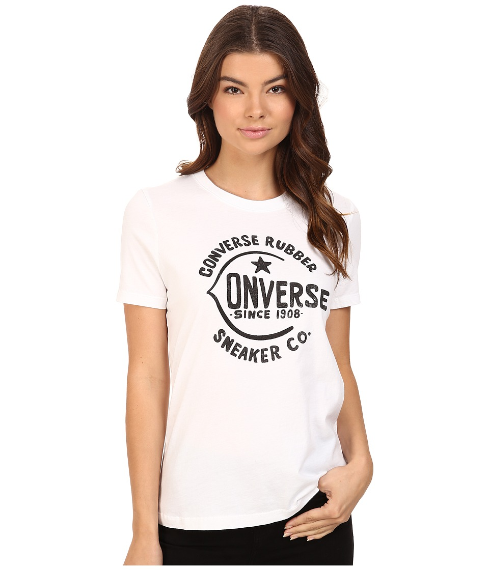 Converse - Archive Logo Short Sleeve Tee (White) Women's T Shirt