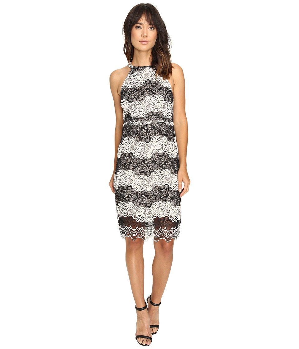kensie - Two-Tone Embroidered Lace Dress KS9K7132 (Black Combo) Women's Dress