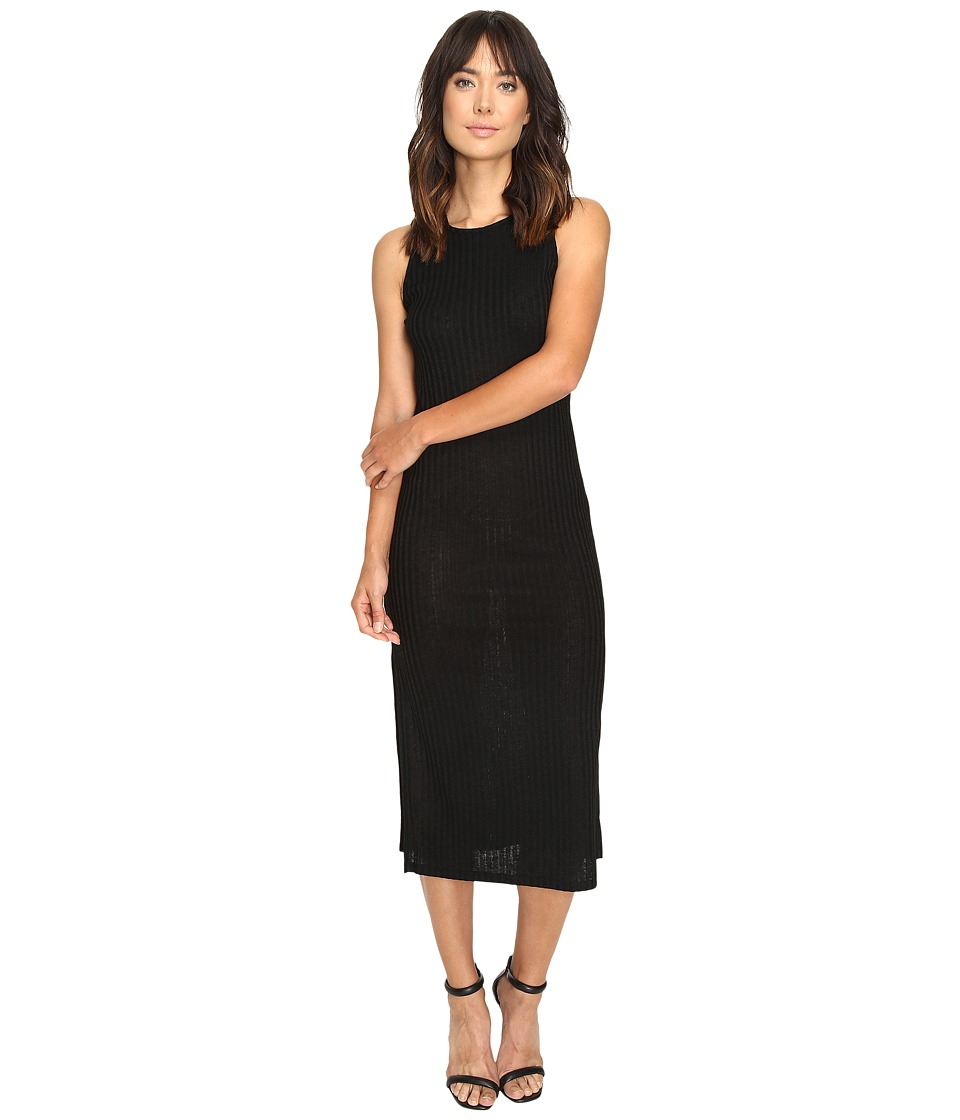 kensie Rayon Rib Knit Dress KS9U7031 (Black) Women