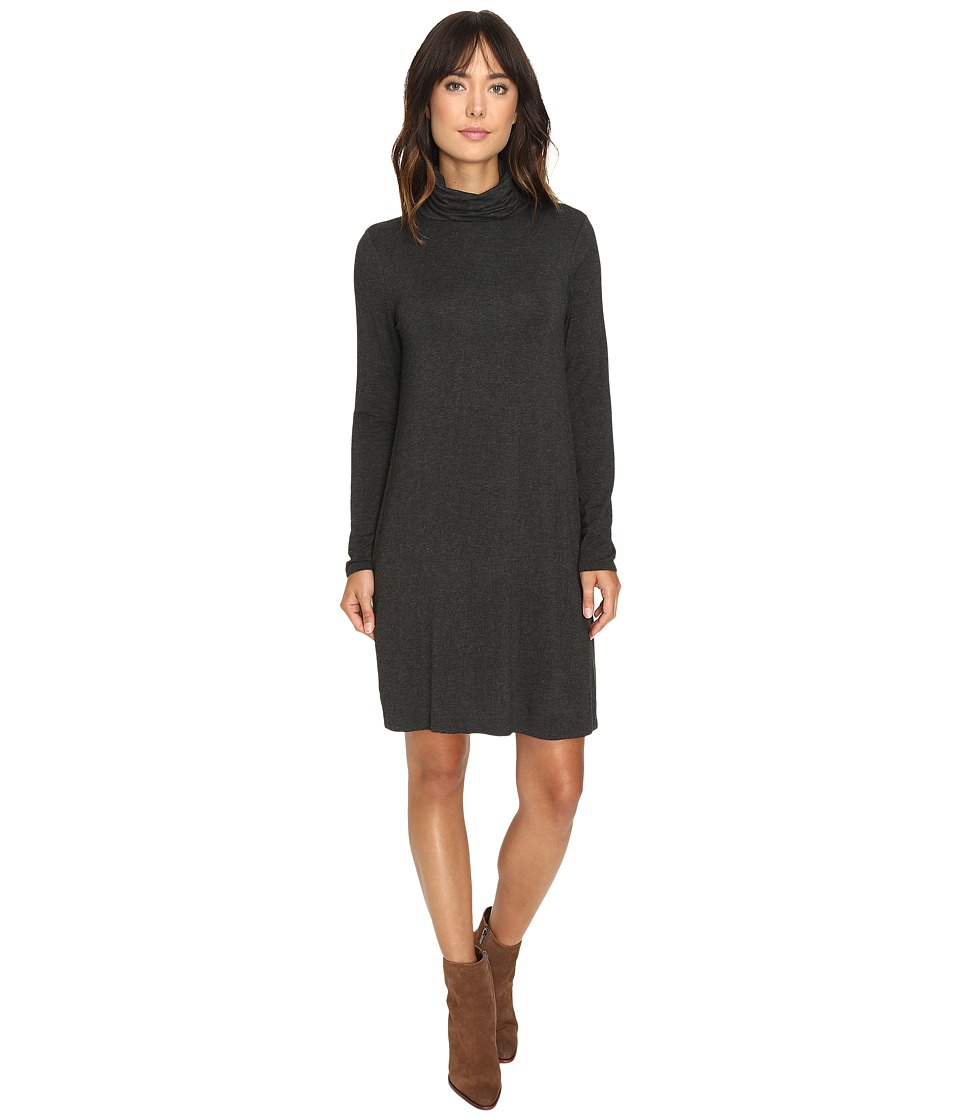 kensie Drapey French Terry Dress KS9K7118 (Heather Charcoal Combo) Women