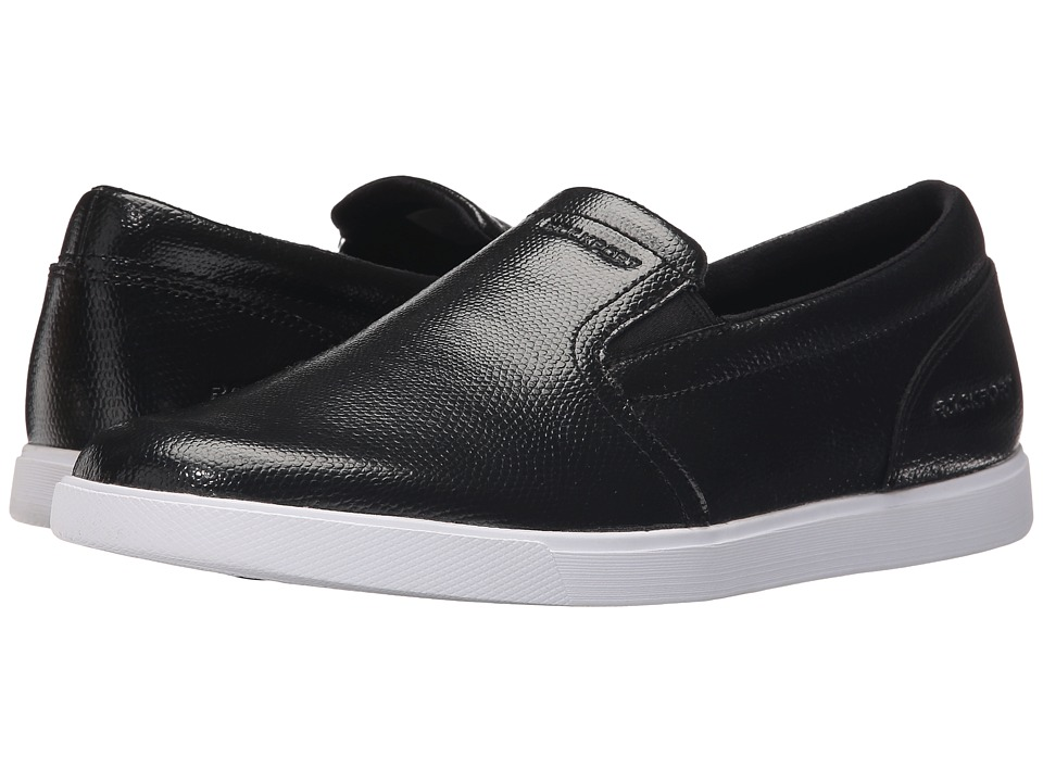 Rockport - Jet Streak Croydon Slip-On (Black) Men's Slip on Shoes