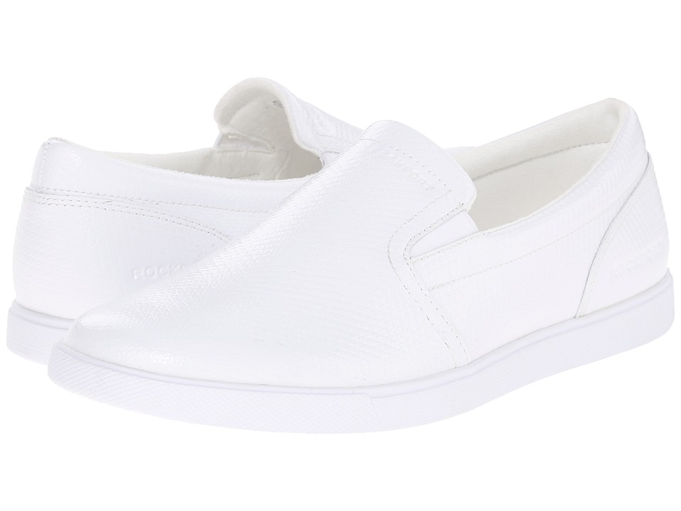 Rockport - Jet Streak Croydon Slip-On (White) Men's Slip on Shoes