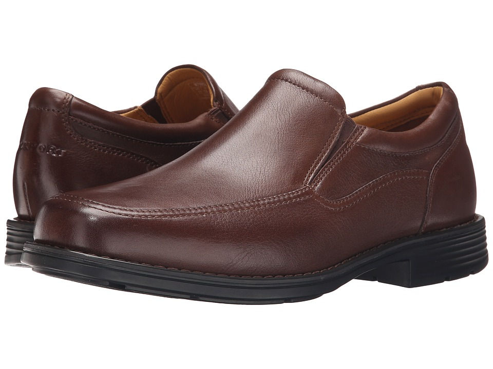 Rockport - Liberty Square Twin Gore Slip-On (Brown) Men's Slip on Shoes