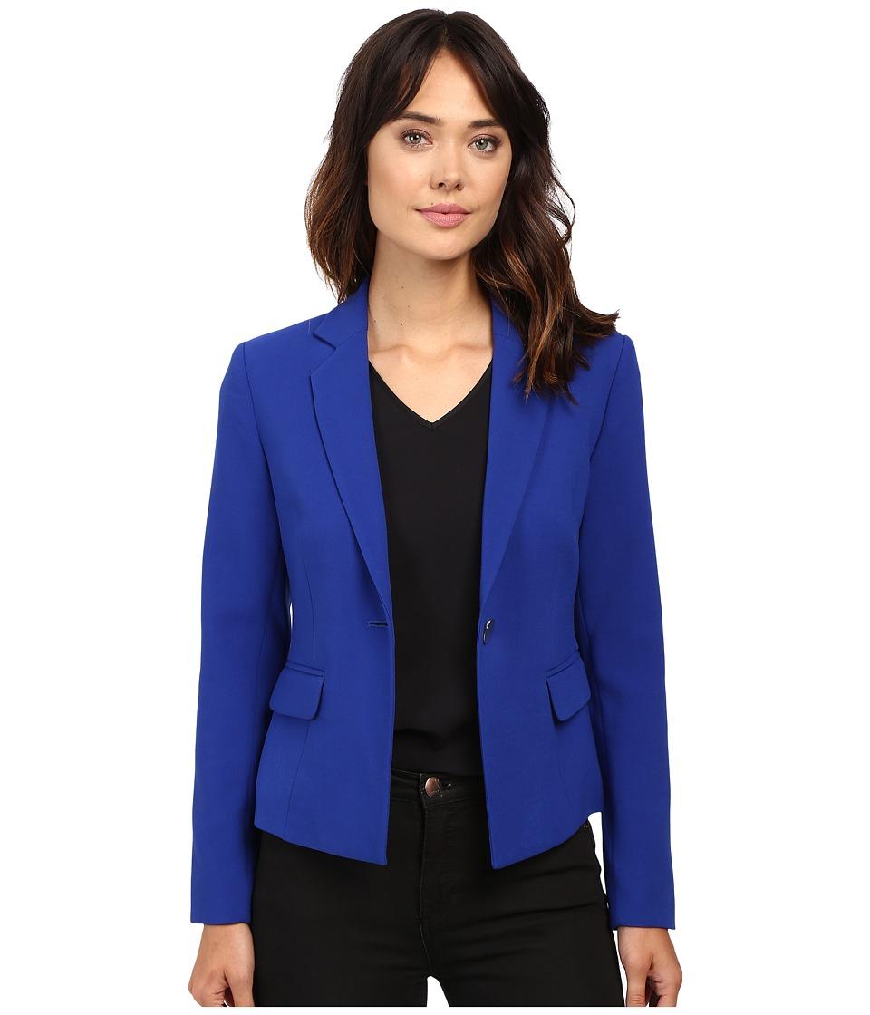Ellen Tracy - Single Button Jacket (Cobalt) Women's Coat