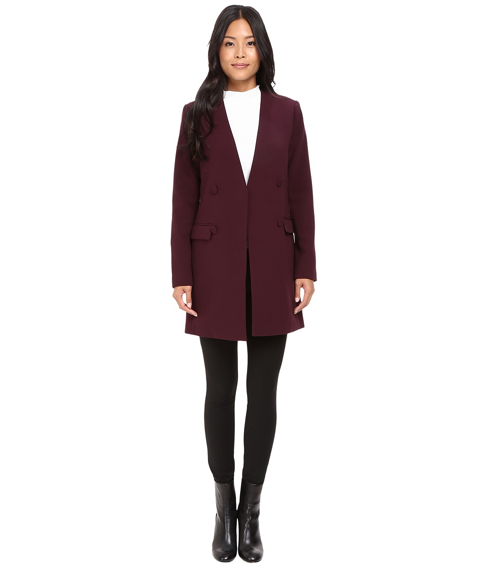 Ellen Tracy - Slim Topper (Fig) Women's Coat