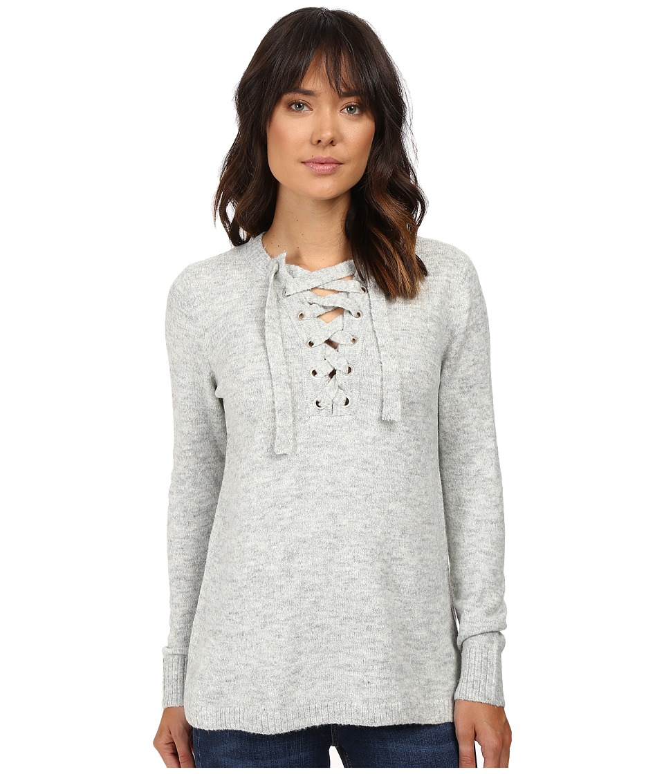 kensie - Warm Touch Sweater KS9K5511 (Heather Light Grey) Women's Sweater