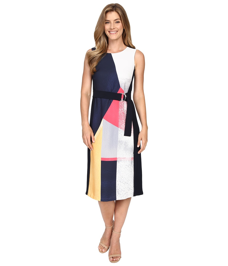 Ellen Tracy - Belted Dress (Prismatic Multi) Women's Dress