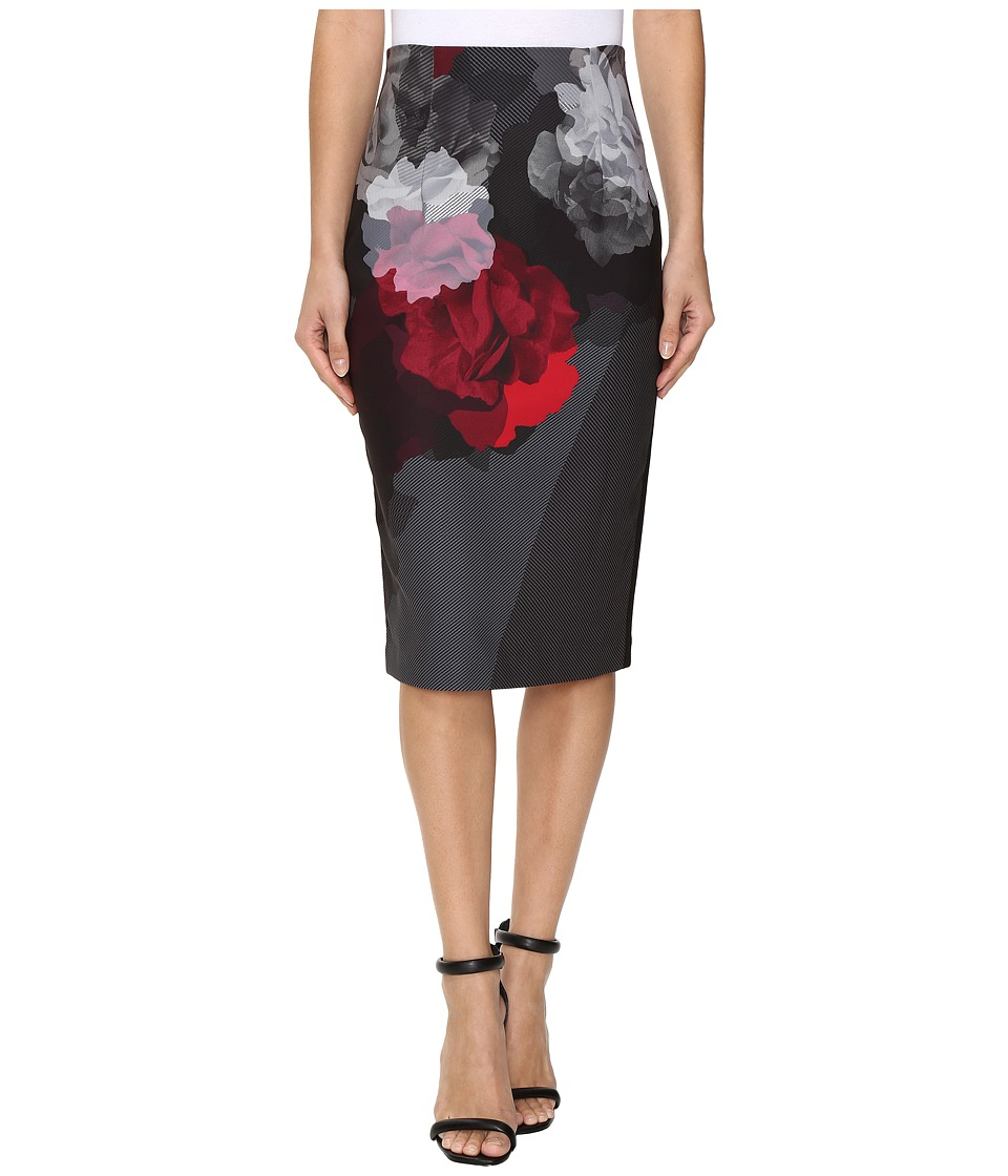 Ellen Tracy - Placement Print High Waist Pencil Skirt (Bloom Combo) Women's Skirt