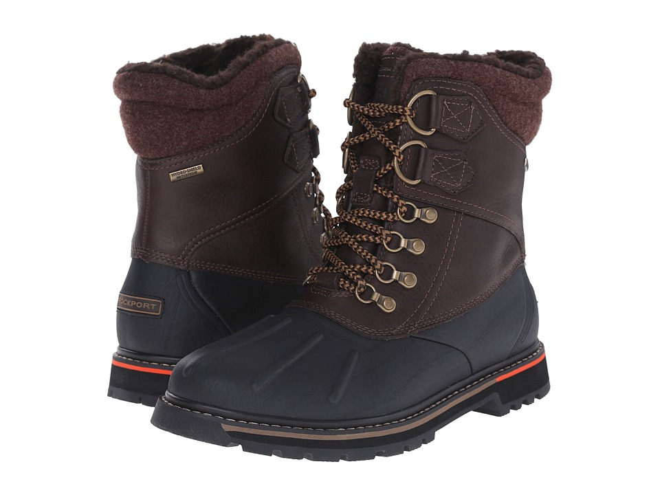 Rockport Trailbreaker Waterproof Duck Boot (Dark Brown Oiled/Dark Brown Wool) Men