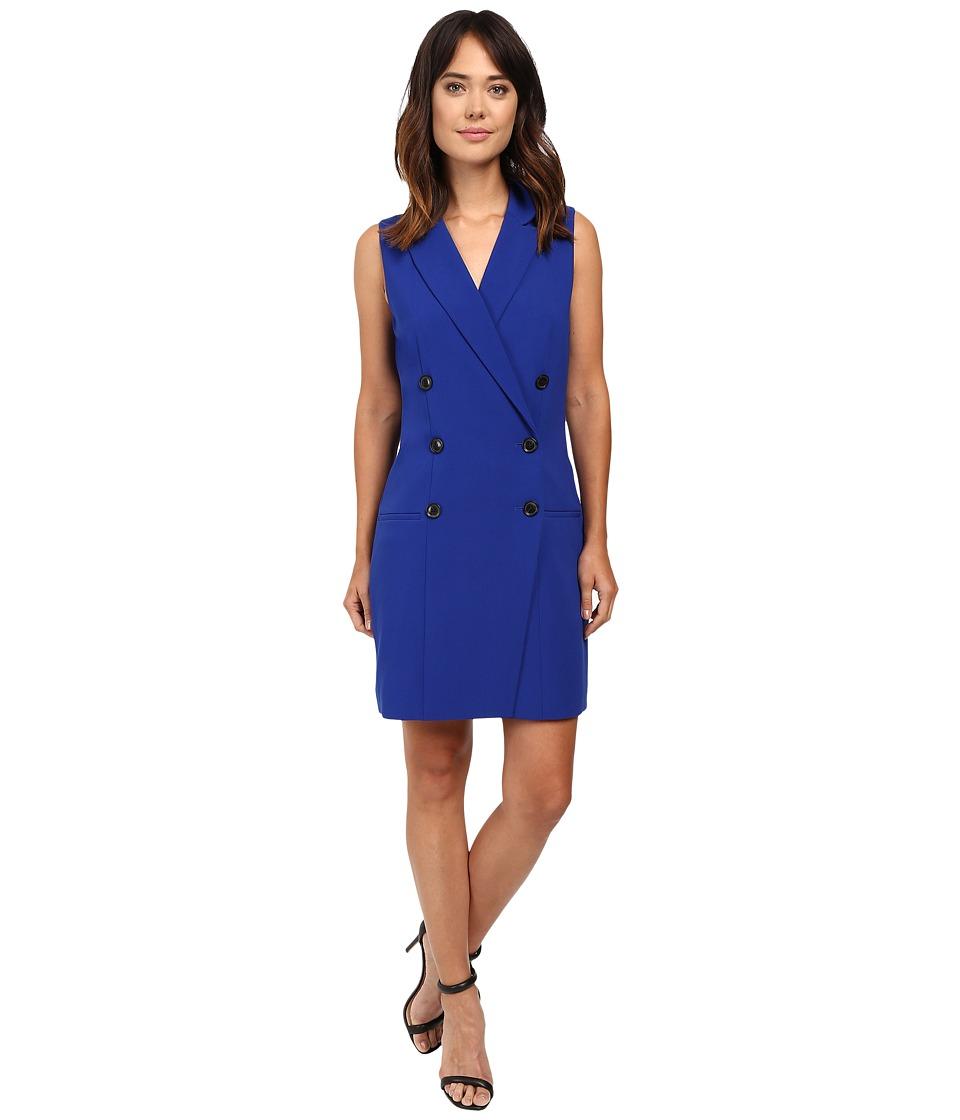 Ellen Tracy Sleeveless Coat Dress (Cobalt) Women
