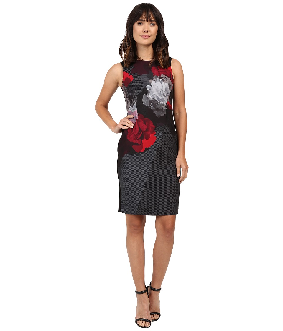 Ellen Tracy - Placement Print Sheath (Bloom Combo) Women's Dress