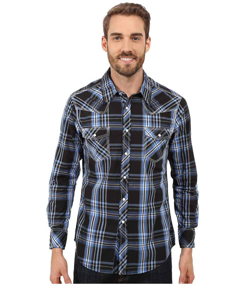 Rock and Roll Cowboy - Long Sleeve Snap B2S7261 (Blue) Men's Long Sleeve Button Up
