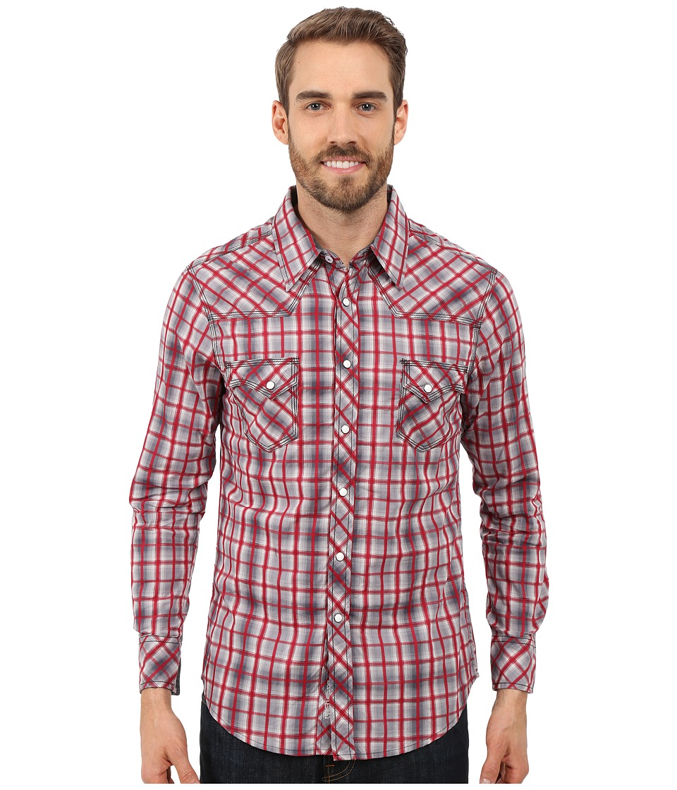 Rock and Roll Cowboy - Long Sleeve Snap B2S7283 (Red) Men's Long Sleeve Button Up