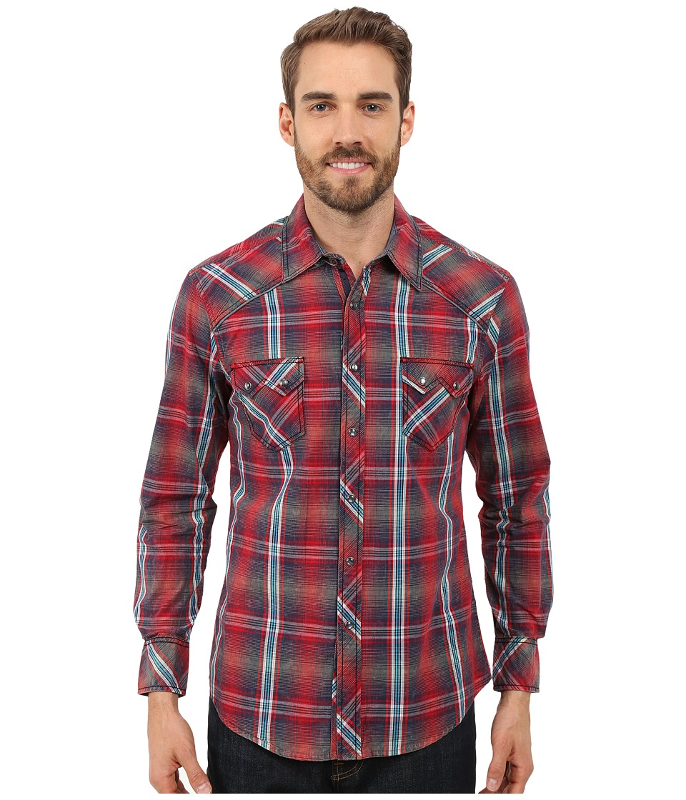 Rock and Roll Cowboy - Long Sleeve Snap B2S7269 (Red) Men's Long Sleeve Button Up
