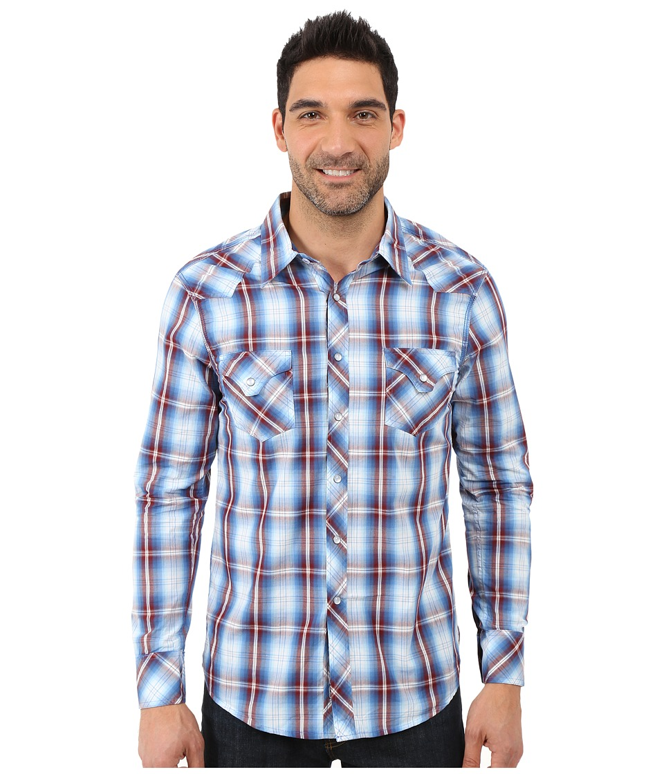 Rock and Roll Cowboy - Long Sleeve Snap B2S7264 (Blue) Men's Long Sleeve Button Up