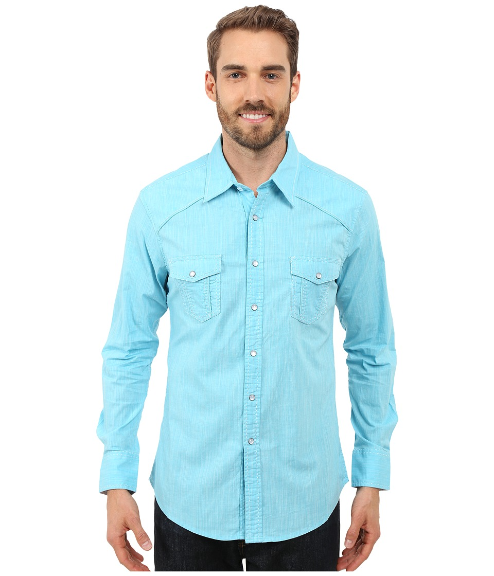 Rock and Roll Cowboy - Long Sleeve Snap B2S7276 (Turquoise) Men's Long Sleeve Button Up
