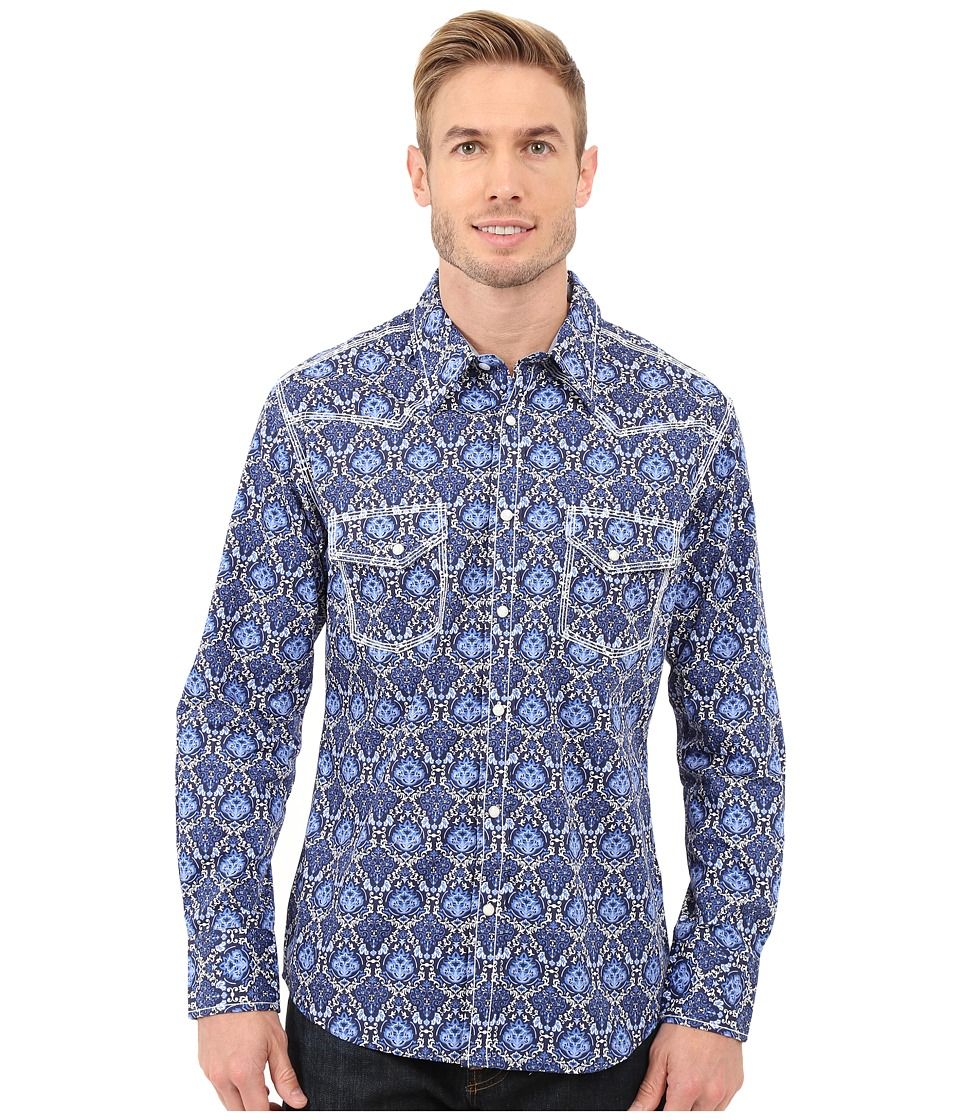 Rock and Roll Cowboy - Long Sleeve Snap B2S7262 (Blue) Men's Long Sleeve Button Up