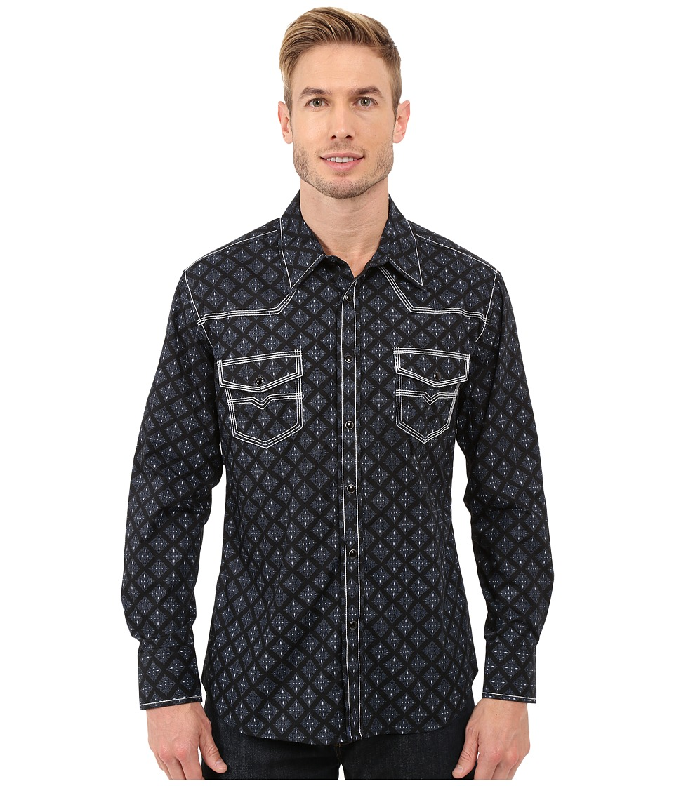 Rock and Roll Cowboy - Long Sleeve Snap B2S7279 (Black) Men's Long Sleeve Button Up