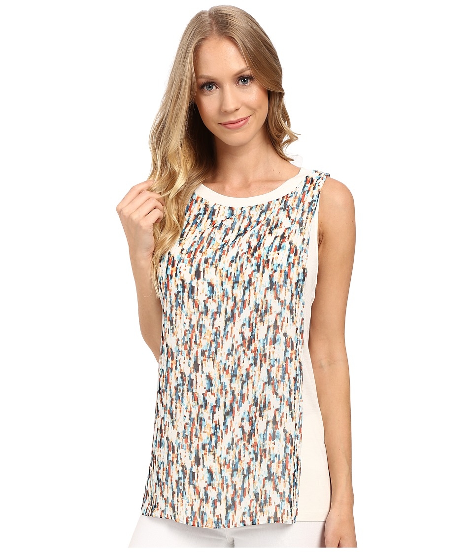 Ellen Tracy - Georgette Overlay Top (Mistral Sunset) Women's Clothing