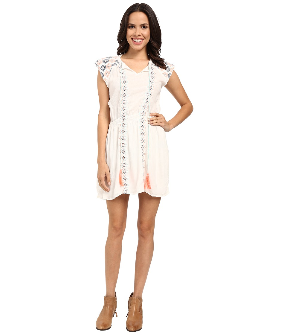 Rock and Roll Cowgirl - Cap Sleeve Dress D5-7673 (White) Women's Dress