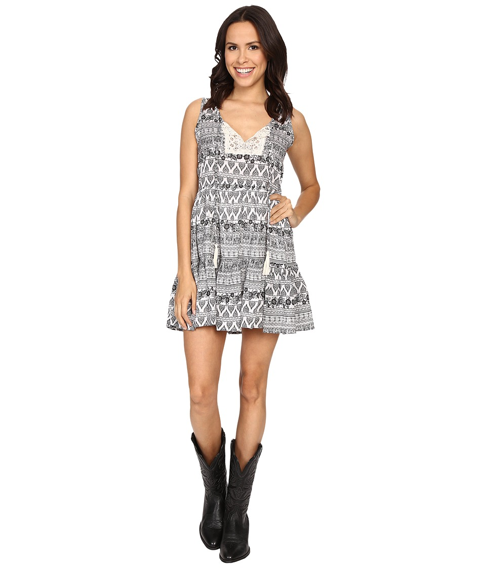 Rock and Roll Cowgirl - Sleeveless Dress D5-7670 (Natural) Women's Dress