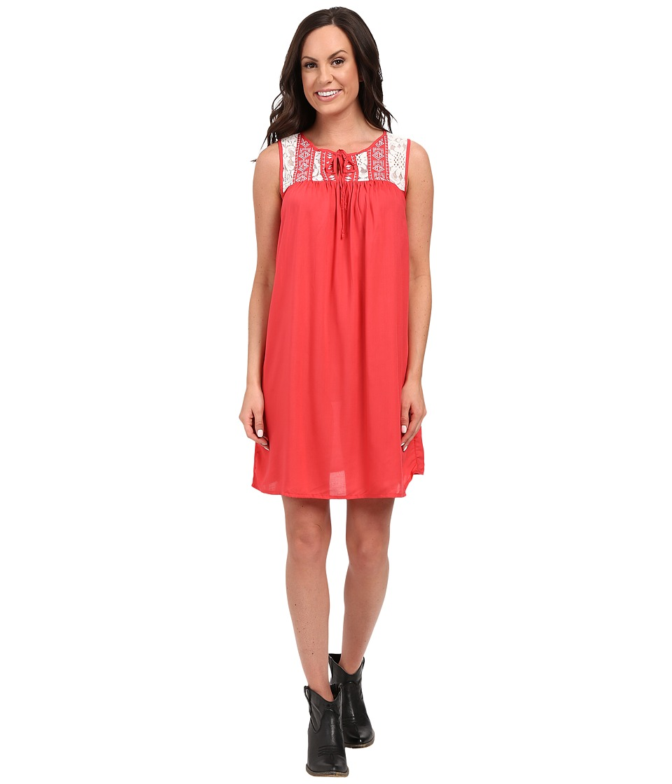 Rock and Roll Cowgirl - Sleeveless Dress D5-7667 (Hot Pink) Women's Dress