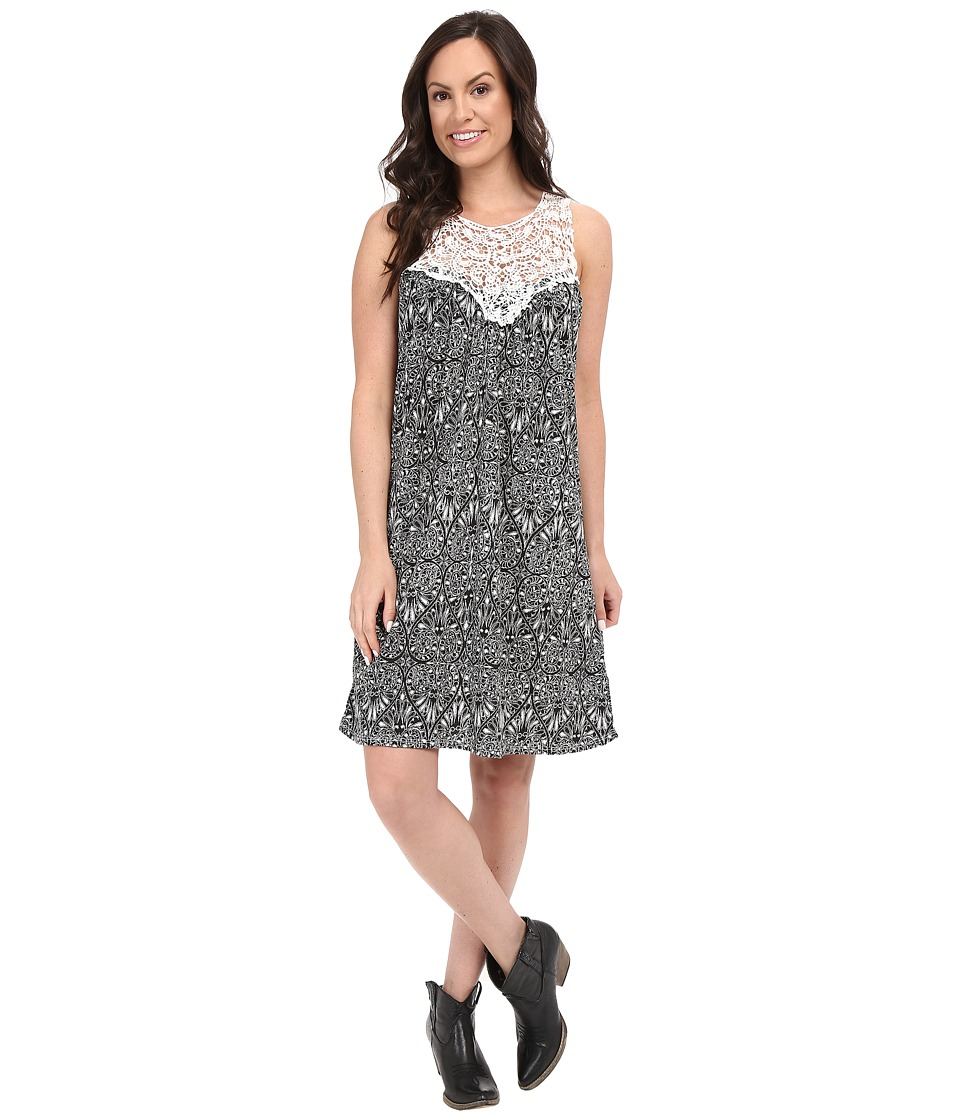 Rock and Roll Cowgirl - Sleeveless Dress 19-7661 (White) Women's Dress