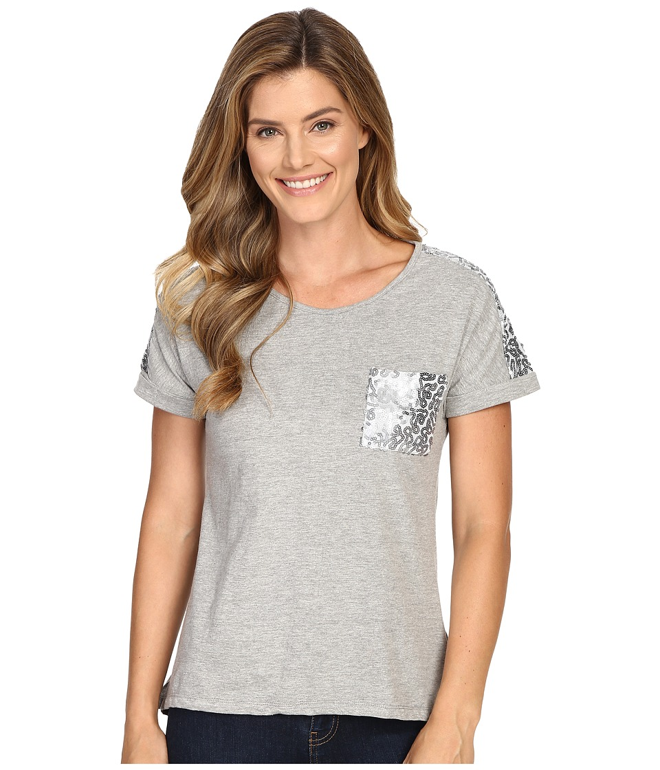 Rock and Roll Cowgirl - Short Sleeve T-Shirt 49T7250 (Pale Grey) Women's T Shirt